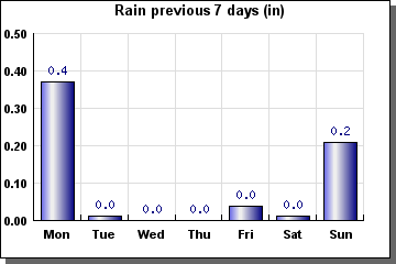 Rain previous 7 days - graph