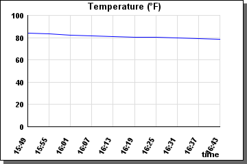 Temperature last 60 minutes - graph